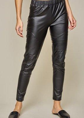 stardust faux leather moto leggings