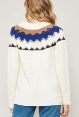 stardust diamond pattern multi color sweater