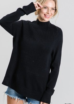 stardust intricate mock neck sweater