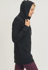 wildflower Longline essential active micro ribbed hoodie
