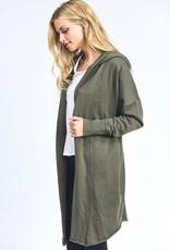 wildflower Longline hoodie cardigan