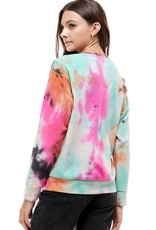 stardust French terry tie dye sweatshirt