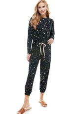 stardust French terry gold star top jogger set