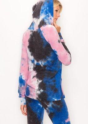 wildflower Tie dye long sleeve hoody