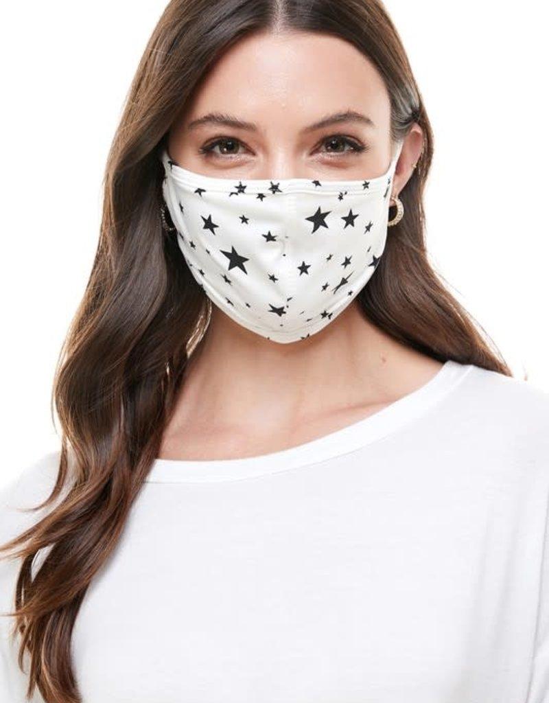 wildflower Star print fabric cloth fashion mask