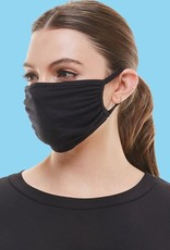 wildflower reusable black fabric fashion face mask w/filter slot