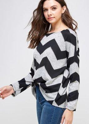 stardust Chevron light knit sweater