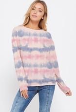 stardust Tie dye stripe sweatshirt long sleeve top