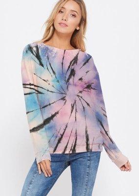 stardust Tie dye sweatshirt long sleeve top