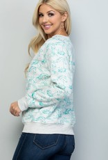 wildflower all over horse print sweatshirt