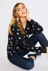 stardust star print v neck sweatshirt