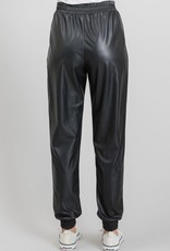 wildflower faux leather drawstring jogger