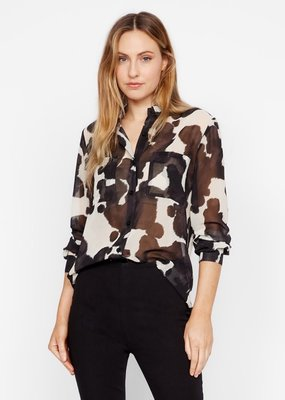 sanctuary pony print chiffon blouse