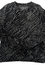 majestic filatures zebra print l/s crew
