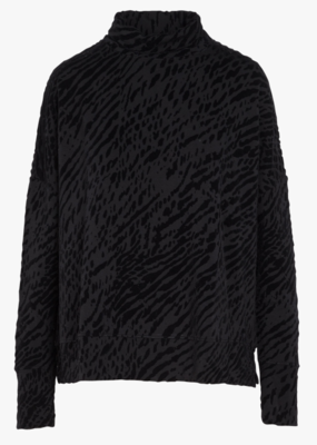 majestic filatures zebra print l/s turtleneck