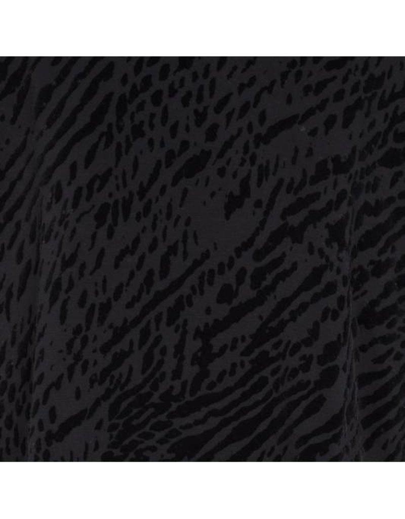 majestic filatures zebra print l/s v neck oversized fit