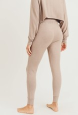 wildflower Fuzzy Raglan Hoodie Pullover with Jogger Pant Set
