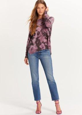 stardust Purple Tie Dye Sweater w/side zips