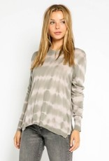 stardust Grey & Nude Tie Dye Side Zip Sweater
