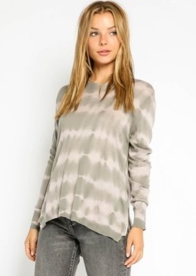 stardust Grey & Nude Tie Dye Side Zip Sweater