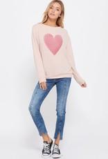 wildflower Heart print sweatshirt long sleeve top