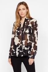 sanctuary pony print chiffon blouse