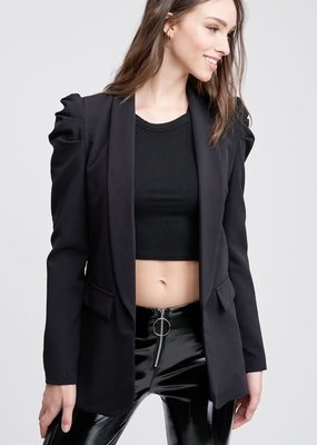 stardust puff shoulder blazer
