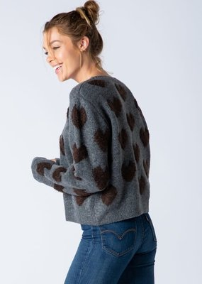 stardust fuzzy heart sweater