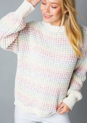 stardust rainbow chenille pullover