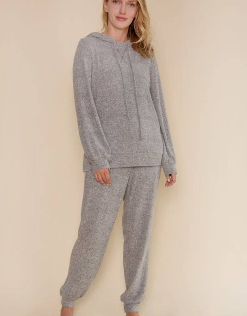 wildflower soft hacci brushed hoody and sweatpant set