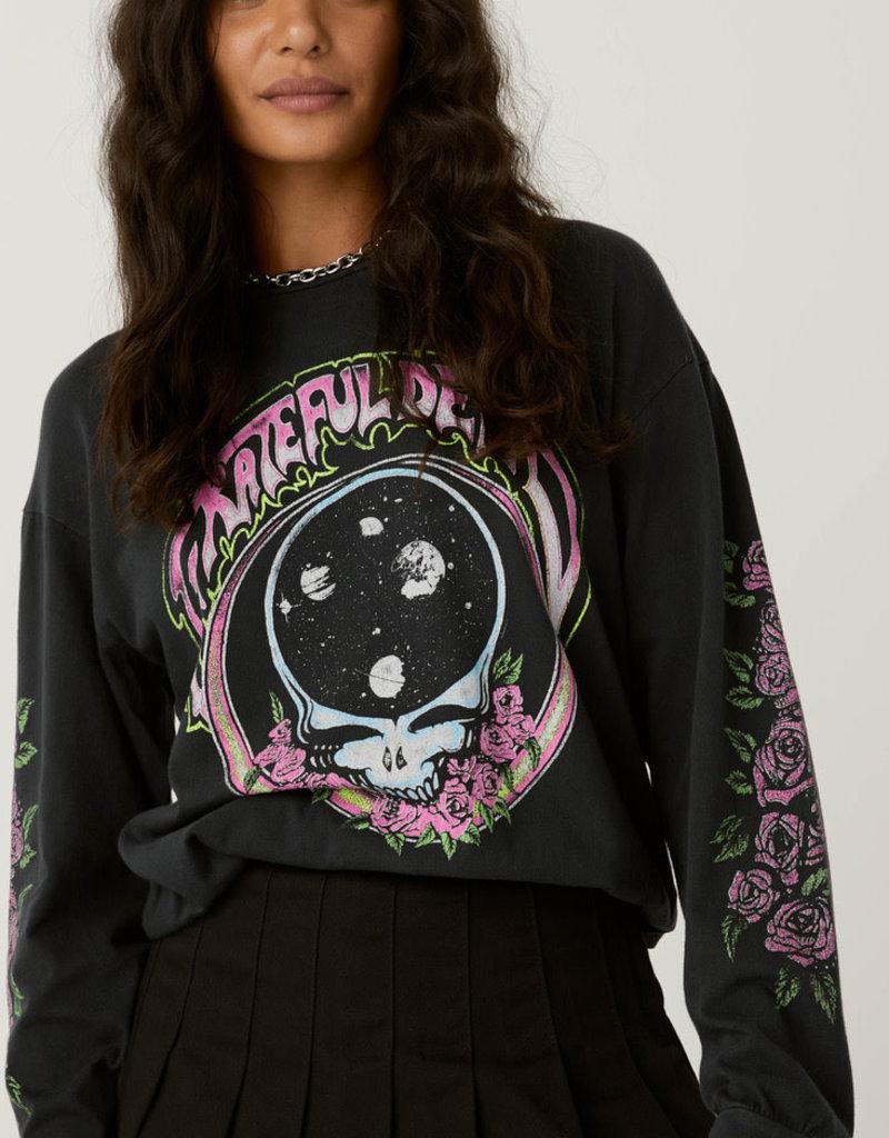 daydreamer Grateful Dead Space Face Oversized Long Sleeve