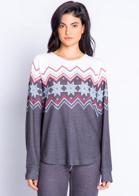 PJ festive fair isle top