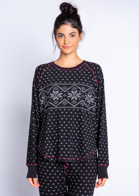 PJ alpine nights fair isle top