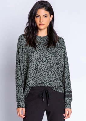 PJ running wild leopard top