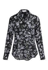 bella dahl floral button down hipster blouse