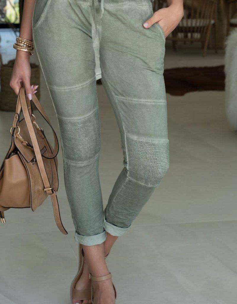 stardust moto drawstring cotton jogger pants
