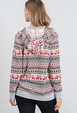 wildflower reindeer and hearts hoody
