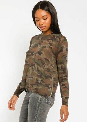 stardust Camo Side Zip Sweater