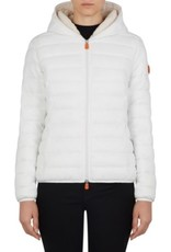 save the duck WOMEN'S GIGA FAUX SHEEPSKIN HOODED JACKET