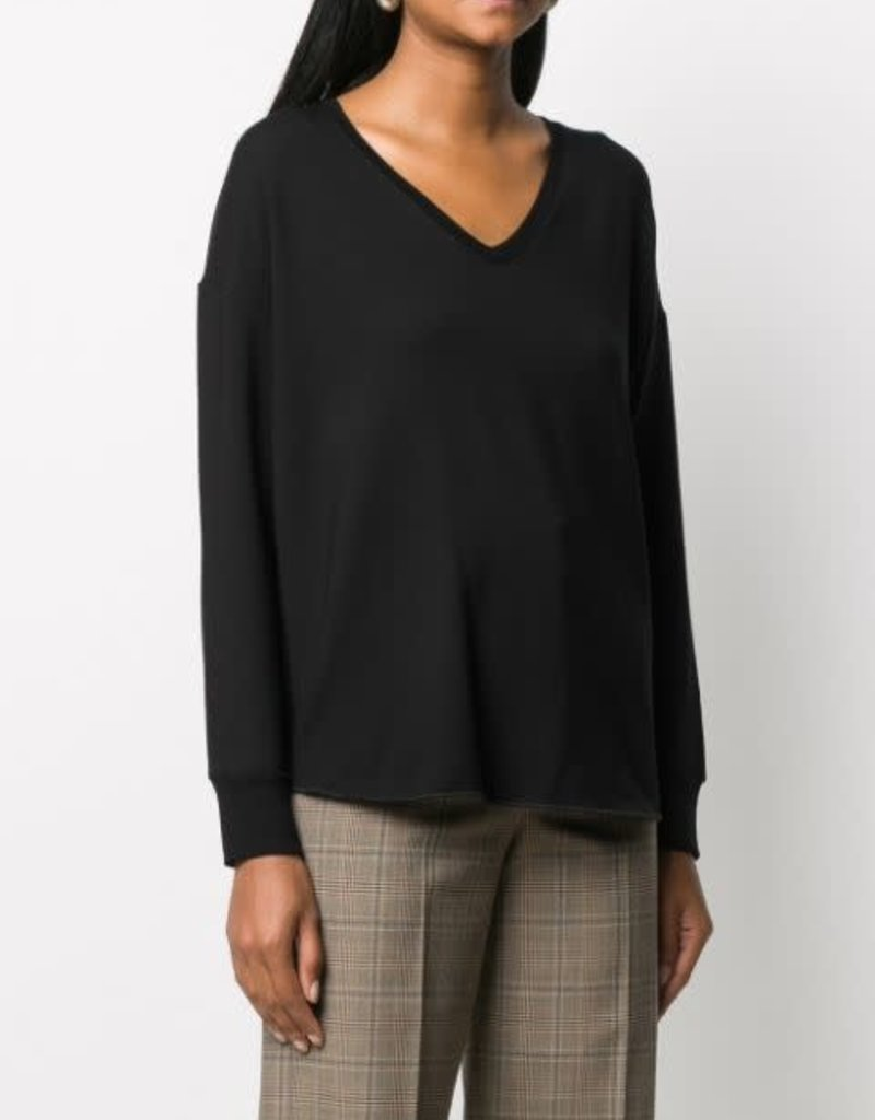 majestic filatures french terry oversized l/s v neck