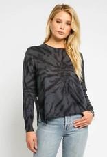 stardust spiral tie dye side zip light knit sweater
