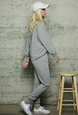 wildflower Texture Knit Solid Jogger Set