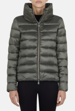 save the duck WOMENS JACKET IN IRIS WITH STANDING COLLAR