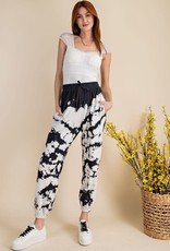 wildflower tie dye terry knit sweatpant
