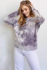wildflower love tie dye sweatshirt