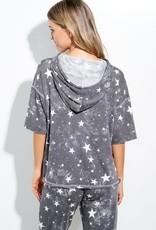 wildflower tie dye s/s star hoody set