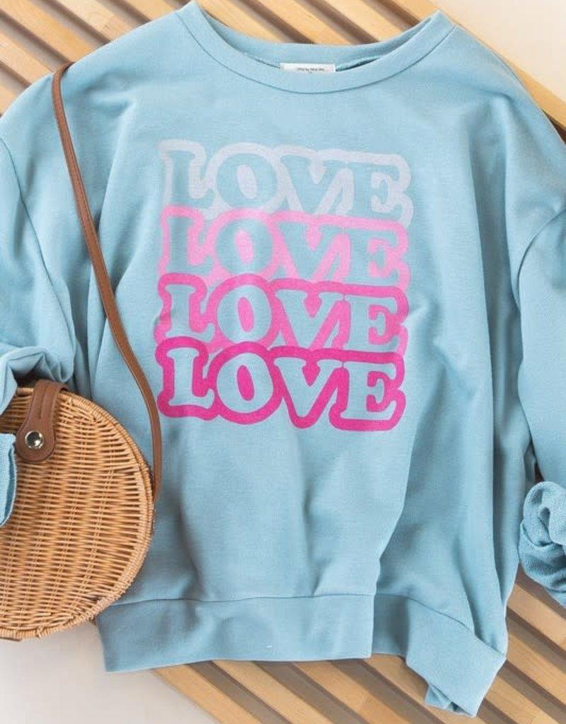 wildflower love love love sweatshirt