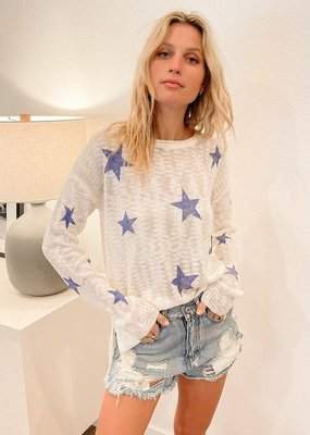wildflower star printed light knit
