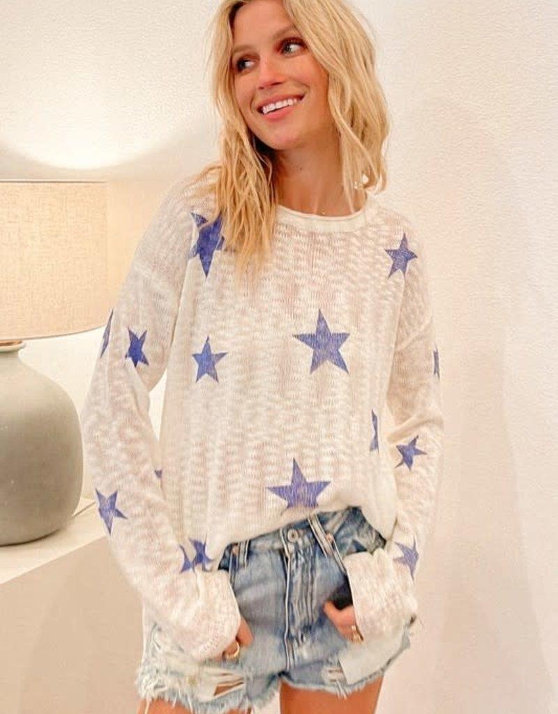 wildflower star printed light knit