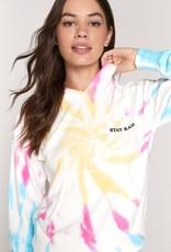 spiritual gangster stay rad skye hoodie tie dye
